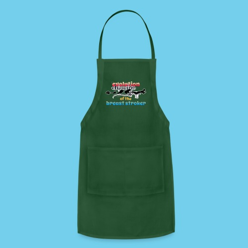 Evolution of the BreastStroker- Men's Tee- Front Design, Rear Mini Logo - Adjustable Apron