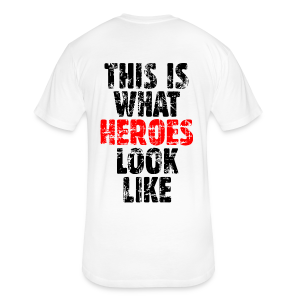 Hero T-Shirt (Vintage Black/Red) - Fitted Cotton/Poly T-Shirt by Next Level