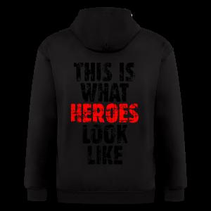 Hero T-Shirt (Vintage Black/Red) - Men's Zip Hoodie