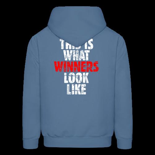 Winner T-Shirt S-5X (Vintage White/Red) Back - Men's Hoodie