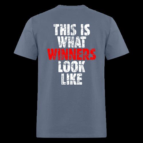 Winner T-Shirt S-5X (Vintage White/Red) Back - Men's T-Shirt