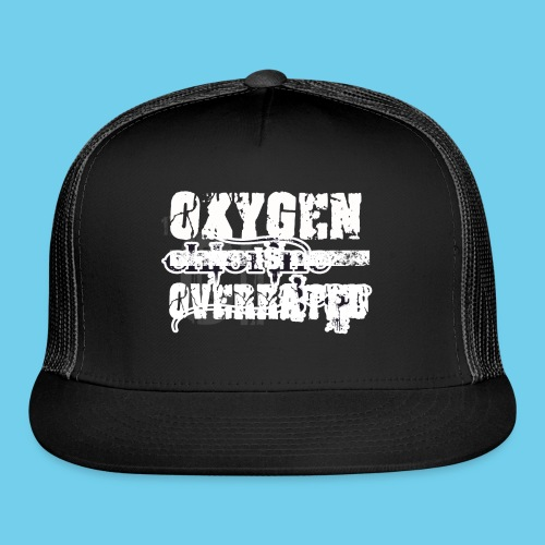O2 is Overrated-Youth LS Tee- Front Design/Rear Mini Logo - Trucker Cap
