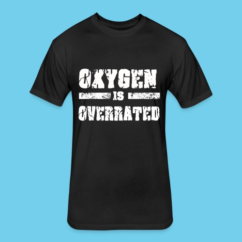 O2 is Overrated-Youth LS Tee- Front Design/Rear Mini Logo - Fitted Cotton/Poly T-Shirt by Next Level