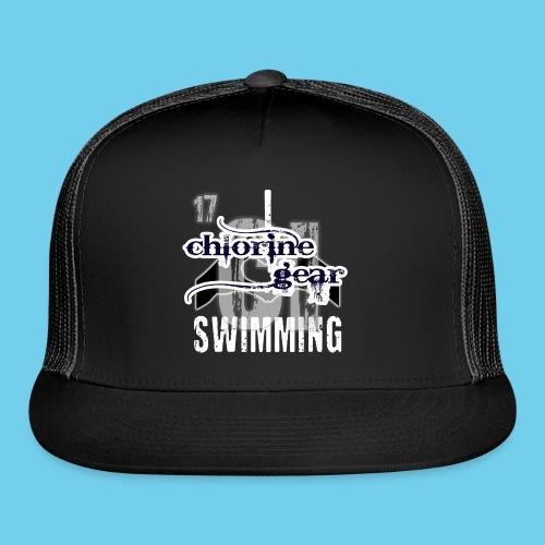 I HEART Swimming- Women's Tee- Front Design, Rear Mini logo - Trucker Cap