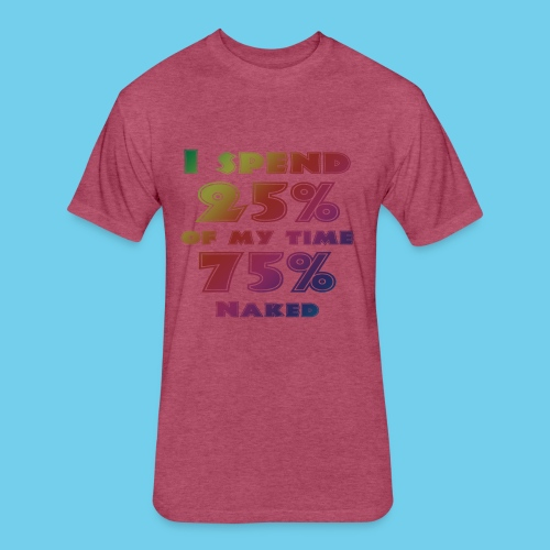25%/75% Women's Tee- Front Design, Rear Mini Logo - Fitted Cotton/Poly T-Shirt by Next Level