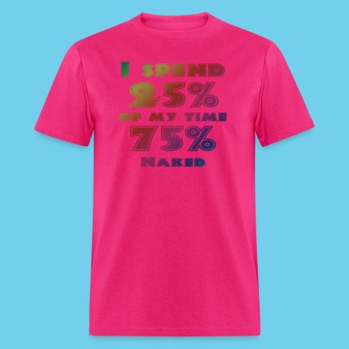 25%/75% Women's Tee- Front Design, Rear Mini Logo - Men's T-Shirt
