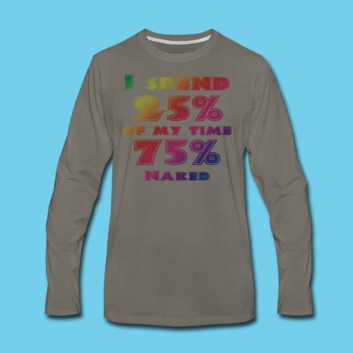 25%/75% Women's Tee- Front Design, Rear Mini Logo - Men's Premium Long Sleeve T-Shirt