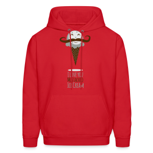 I Love Mustachio Ice Cream! - Men's Hoodie