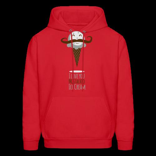 I Love Mustachio Ice Cream! - Men's Hoodie