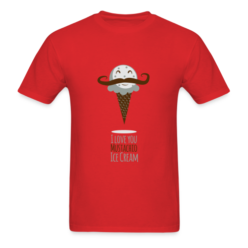 I Love Mustachio Ice Cream! - Men's T-Shirt