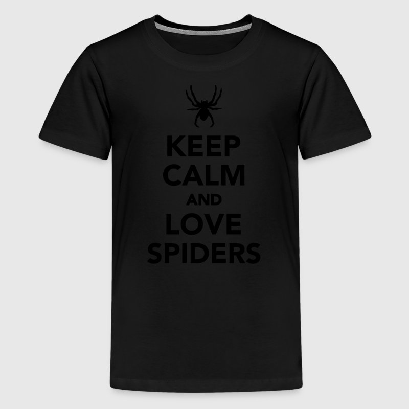 Keep calm and love spiders Kids' Shirts - Kids' Premium T-Shirt