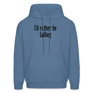 I'd rather be sailing T-Shirt (Women Navy/White) Premium - Men's Hoodie
