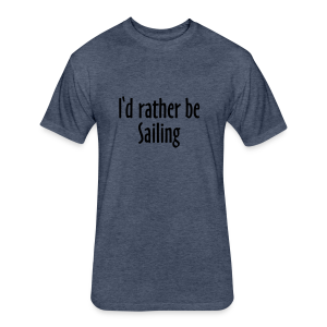 I'd rather be sailing T-Shirt (Women Navy/White) Premium - Fitted Cotton/Poly T-Shirt by Next Level
