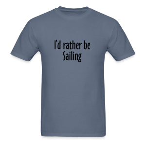 I'd rather be sailing T-Shirt (Women Navy/White) Premium - Men's T-Shirt