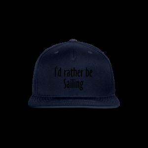 I'd rather be sailing T-Shirt (Women Navy/White) Premium - Snap-back Baseball Cap