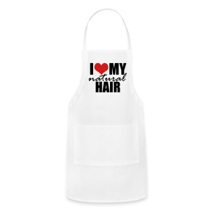 RED I Love My Natural Hair T-shirt (Curvy Girl Edition) - Adjustable Apron
