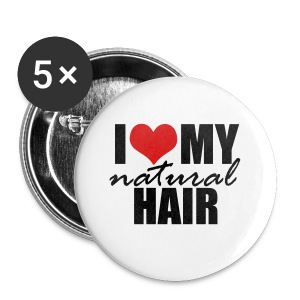 RED I Love My Natural Hair T-shirt (Curvy Girl Edition) - Small Buttons