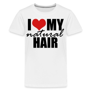 RED I Love My Natural Hair T-shirt (Curvy Girl Edition) - Kids' Premium T-Shirt