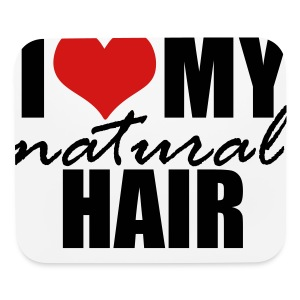 RED I Love My Natural Hair T-shirt (Curvy Girl Edition) - Mouse pad Horizontal