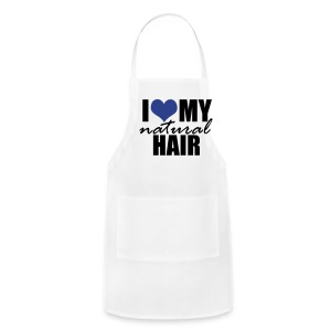 BLUE I Love My Natural Hair Women's Jersey T-shirt - Adjustable Apron