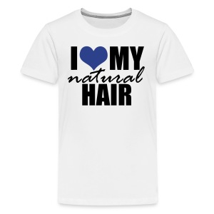 BLUE I Love My Natural Hair Women's Jersey T-shirt - Kids' Premium T-Shirt