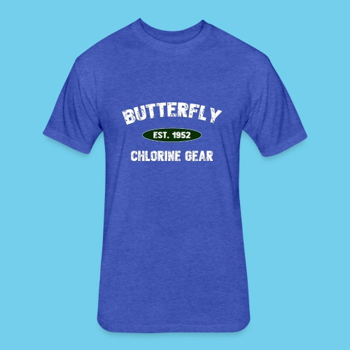 Butterfly est 1952- Keep it Simple Collection- Men's LS Tee - Fitted Cotton/Poly T-Shirt by Next Level