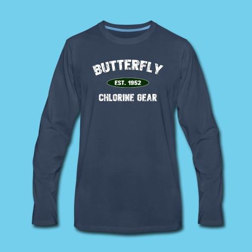 Butterfly est 1952- Keep it Simple Collection- Men's LS Tee - Men's Premium Long Sleeve T-Shirt