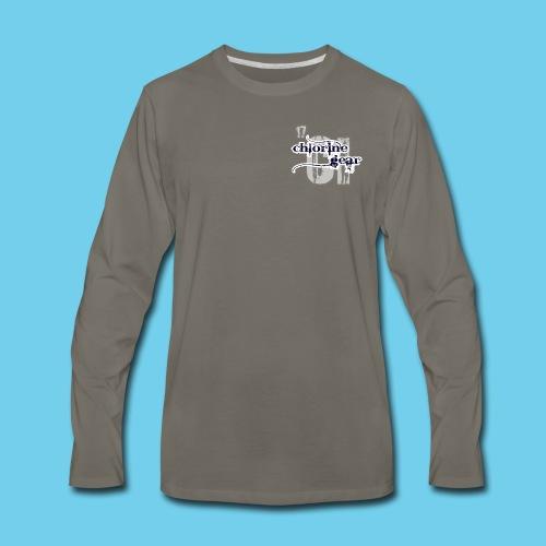 'SWIM' Lap Counter- Youth Tee - Men's Premium Long Sleeve T-Shirt