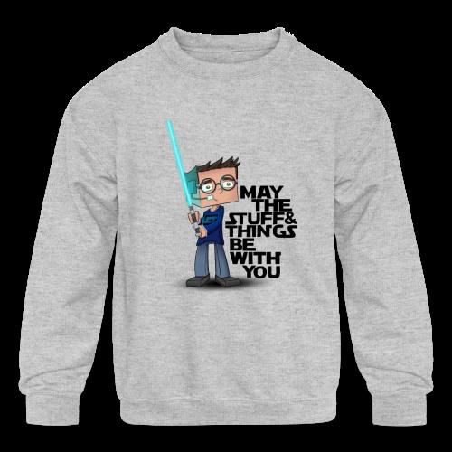 Kid's Sl1pg8r #MTSATBWY Shirt - Kids' Crewneck Sweatshirt