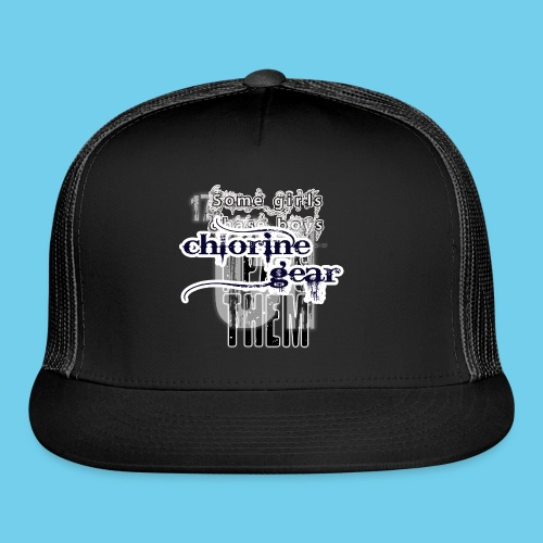 Some girls chase boys- Youth Hoodie - Trucker Cap
