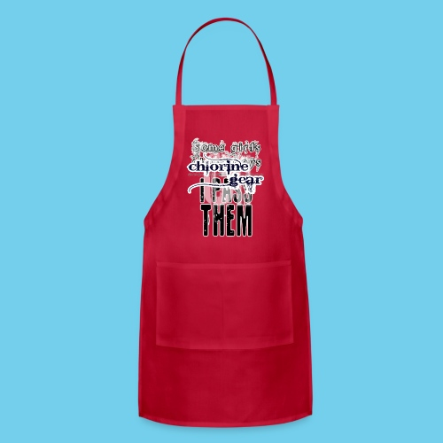 Some girls chase boys- Youth Hoodie - Adjustable Apron