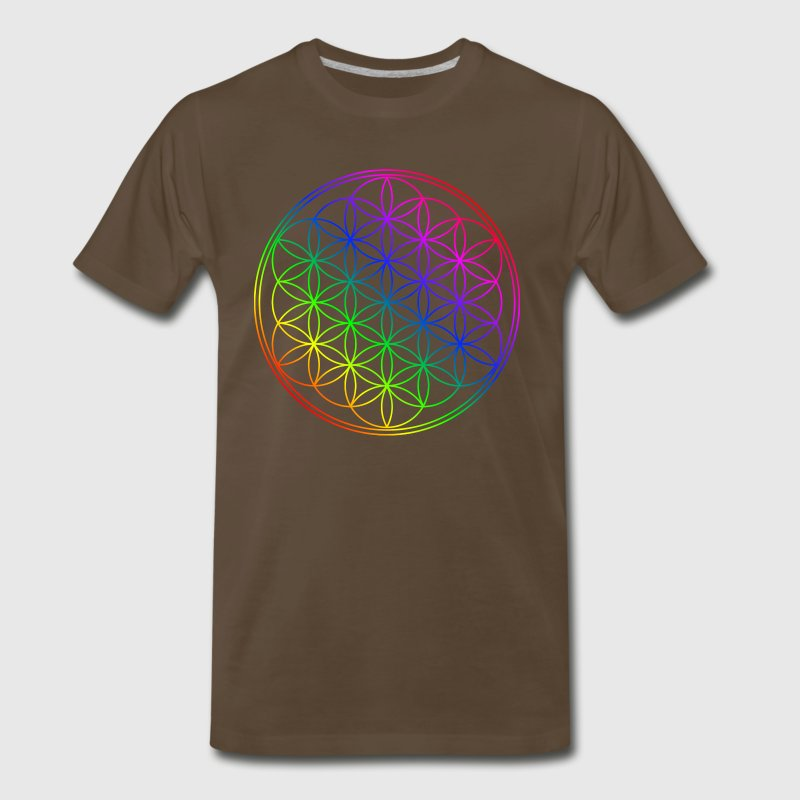Flower of life rainbow colors Shirt - Men's Premium T-Shirt