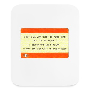 One Way Ticket to Party Town - Tote Bag - Mouse pad Vertical