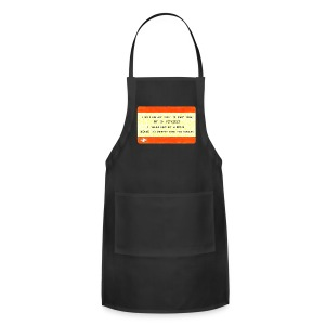 One Way Ticket to Party Town - Tote Bag - Adjustable Apron