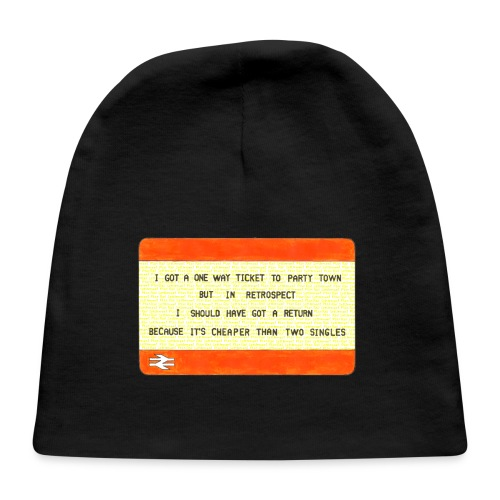 One Way Ticket to Party Town - Tote Bag - Baby Cap