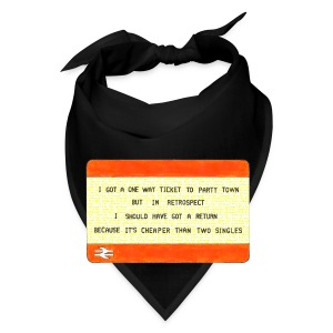 One Way Ticket to Party Town - Tote Bag - Bandana