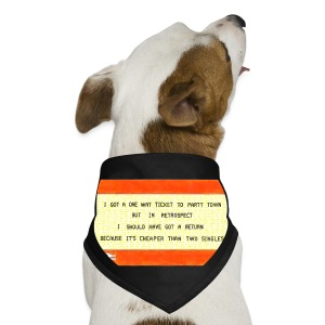 One Way Ticket to Party Town - Tote Bag - Dog Bandana