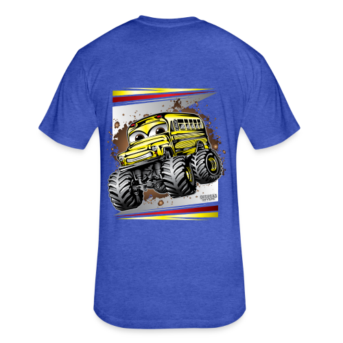 Monster Bus Kids BACK - Fitted Cotton/Poly T-Shirt by Next Level