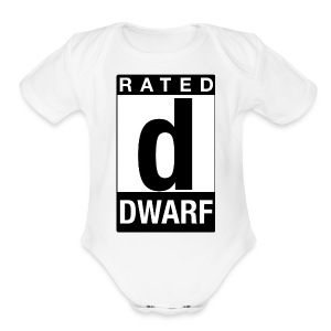 Rated Tee - Dwarf - Short Sleeve Baby Bodysuit