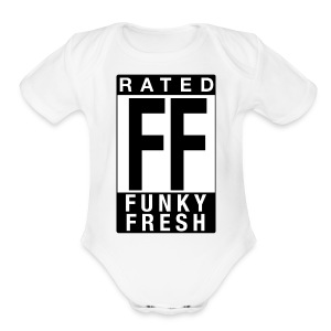 Rated Tee - Funky Fresh - Short Sleeve Baby Bodysuit