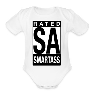 Rated Tee - Smartass - Short Sleeve Baby Bodysuit