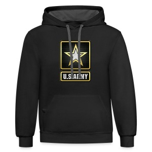 U.S.  Army Logo 3D  - Contrast Hoodie