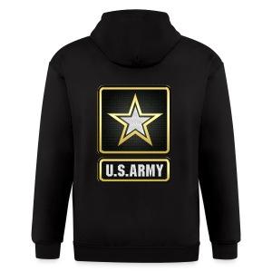 U.S.  Army Logo 3D  - Men's Zip Hoodie