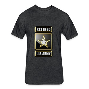 U.S.  Army Retired Logo 3D  - Fitted Cotton/Poly T-Shirt by Next Level