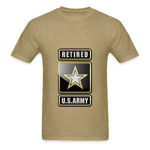 U.S.  Army Retired Logo 3D  - Men's T-Shirt