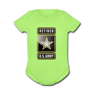 U.S.  Army Retired Logo 3D  - Short Sleeve Baby Bodysuit