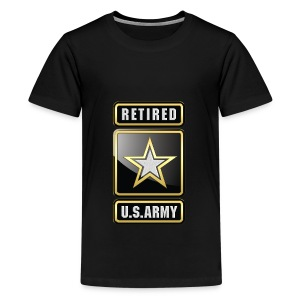 U.S.  Army Retired Logo 3D  - Kids' Premium T-Shirt