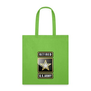 U.S.  Army Retired Logo 3D  - Tote Bag