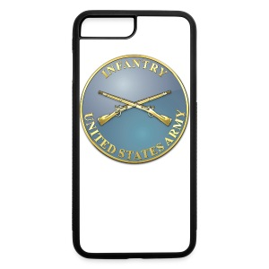 Infantry Branch Plaque - iPhone 7 Plus/8 Plus Rubber Case