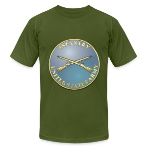 Infantry Branch Plaque - Men's T-Shirt by American Apparel